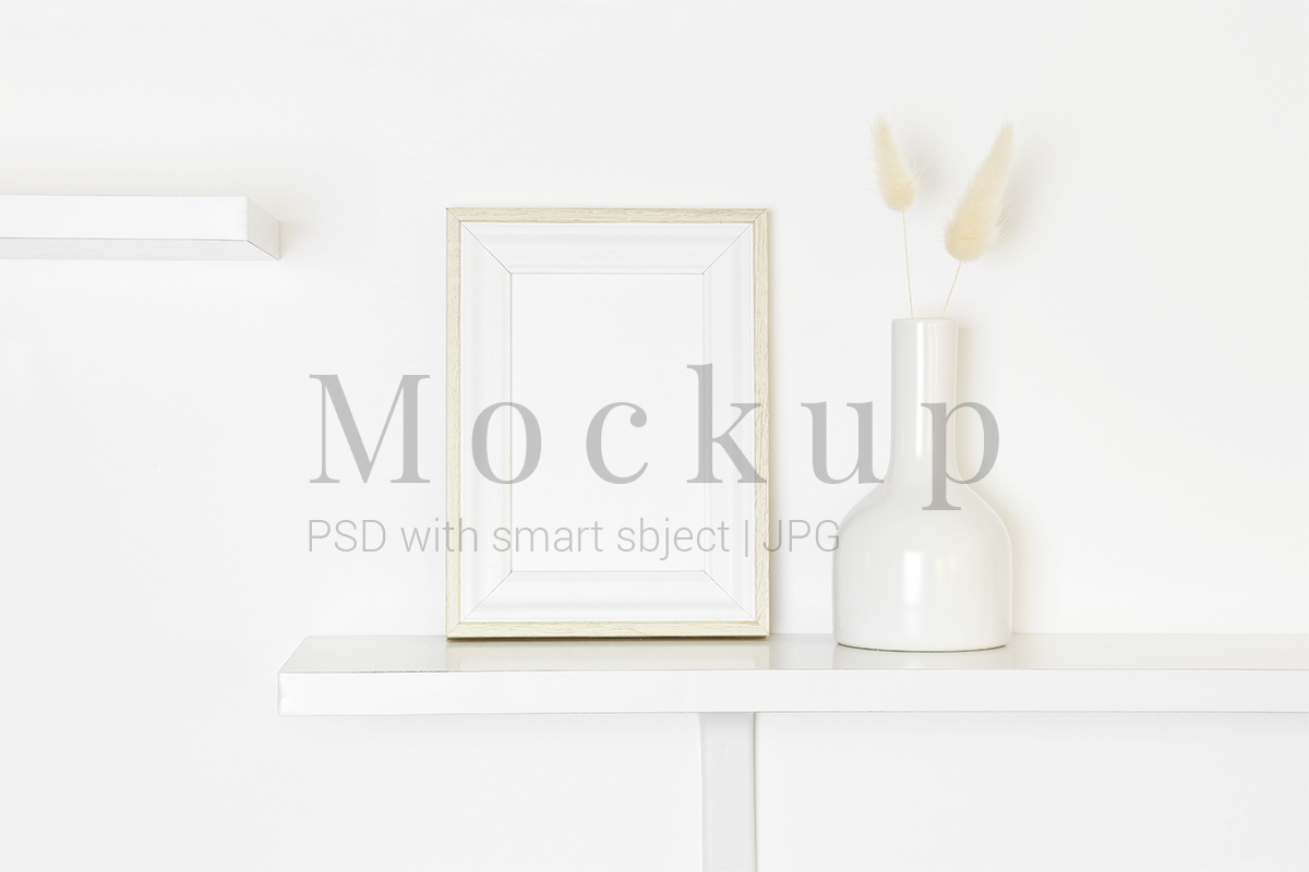 Download Free White Frame Mockup On White Background Grafik Von Pawmockup for Cricut Explore, Silhouette and other cutting machines.