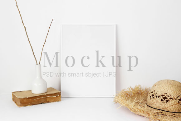 Download Free White Photo Frame Mockup With Old Book Grafico Por Pawmockup for Cricut Explore, Silhouette and other cutting machines.