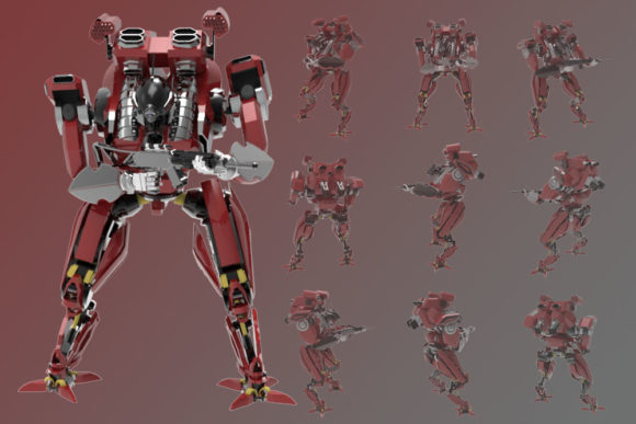 Print on Demand: Illustration from a Guard Robot Graphic Illustrations By Gblack Id