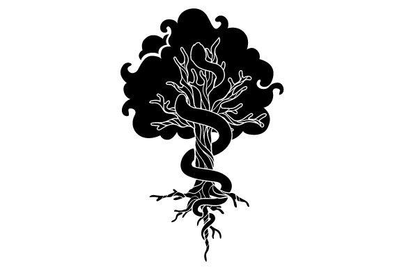 Witchy Tree Halloween Craft Cut File By Creative Fabrica Crafts