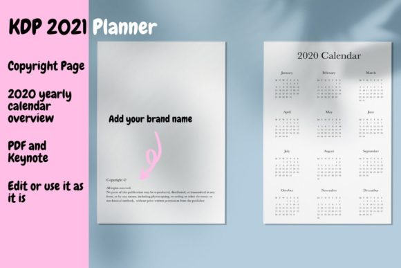 Download Free 2021 Planner Ready To Use Keynote Graphic By Income Plum for Cricut Explore, Silhouette and other cutting machines.