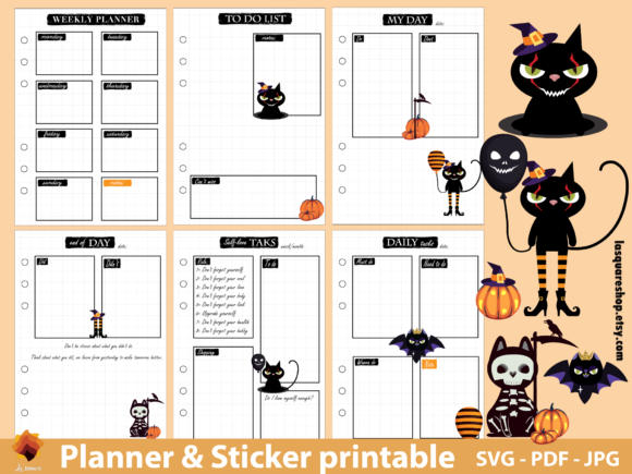 Download Free A5 Planner Printable It Meow King Cat Graphic By Lasquare Info Creative Fabrica for Cricut Explore, Silhouette and other cutting machines.