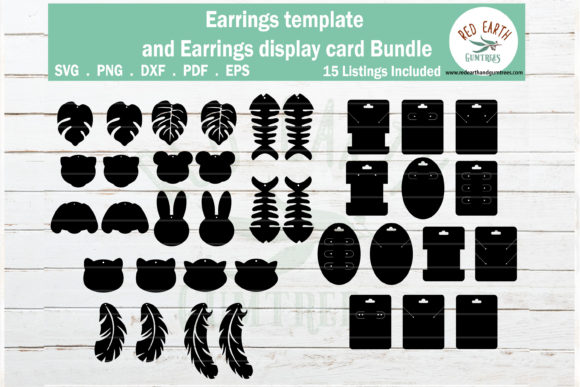 Animals Faux Earring, Earring Display Graphic Crafts By redearth and gumtrees