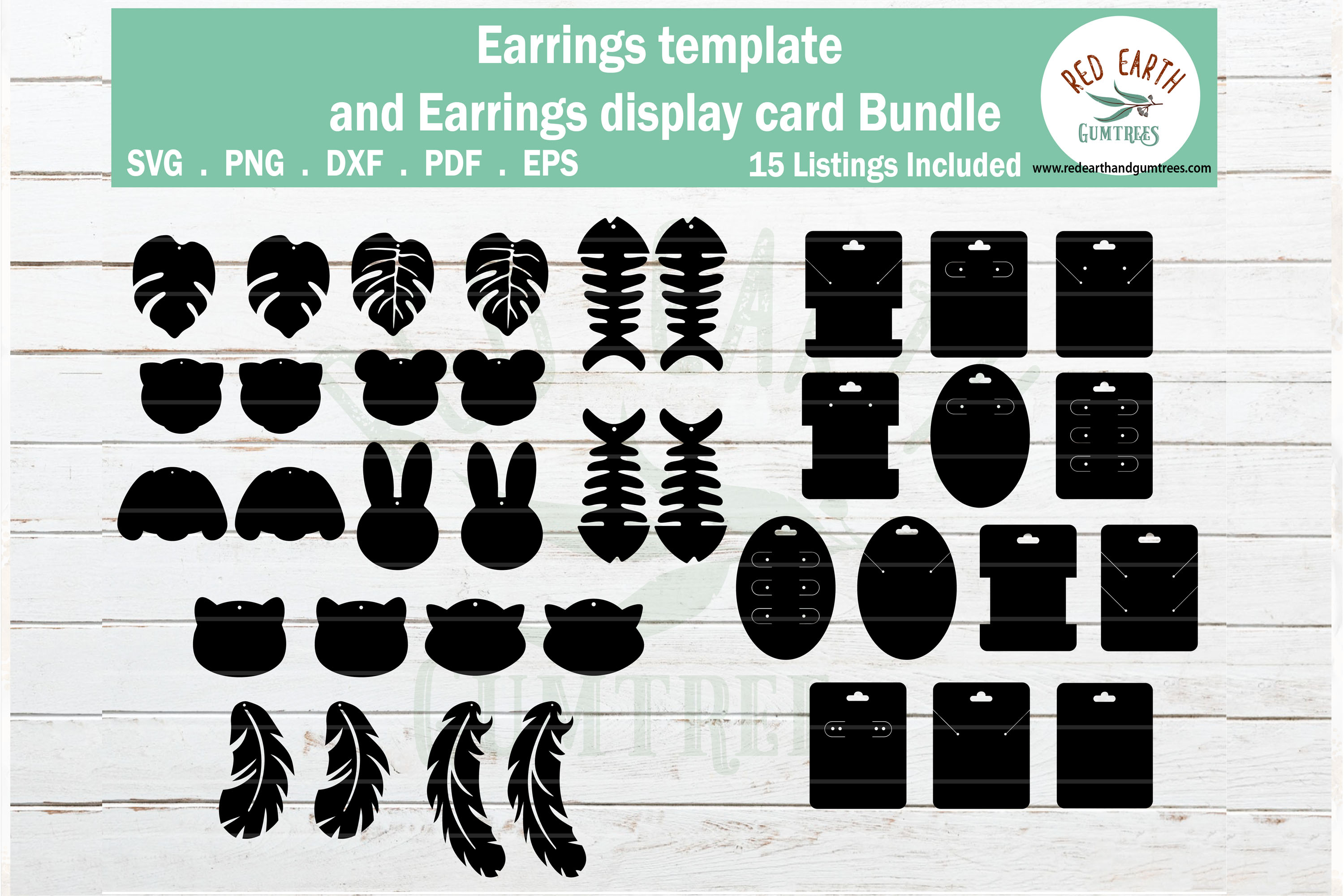Download Free Animals Faux Earring Svg Earring Display Graphic By Redearth And for Cricut Explore, Silhouette and other cutting machines.