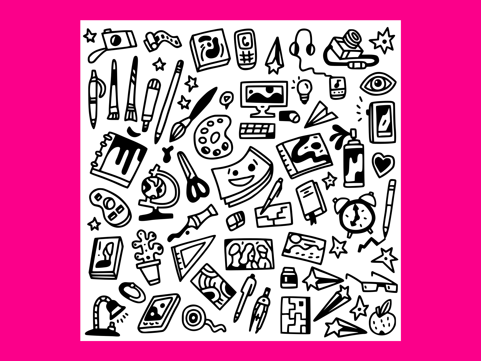 Download Free Art Doodles Vector Grafico Por Anrasoft Creative Fabrica for Cricut Explore, Silhouette and other cutting machines.