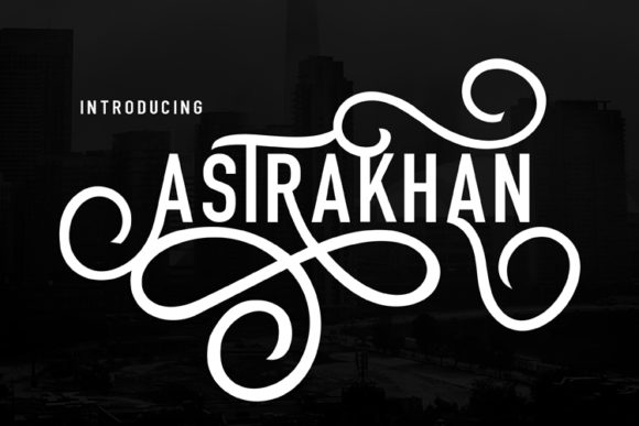 Print on Demand: Astrakhan Display Font By ed.creative
