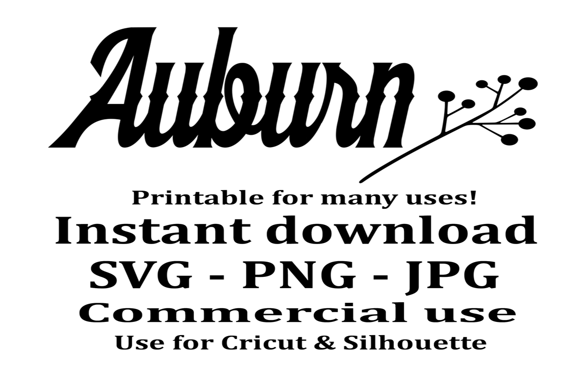 Download Free Auburn Graphic Graphic By A Design In Time Creative Fabrica for Cricut Explore, Silhouette and other cutting machines.
