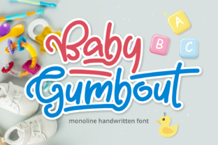 Print on Demand: Baby Gumbout Script & Handwritten Font By Mabhal Studio