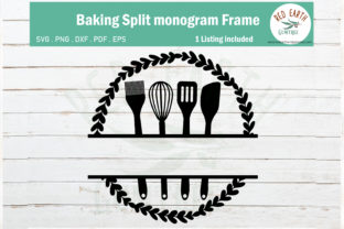 Baking Split Monogram Frame Graphic Crafts By redearth and gumtrees