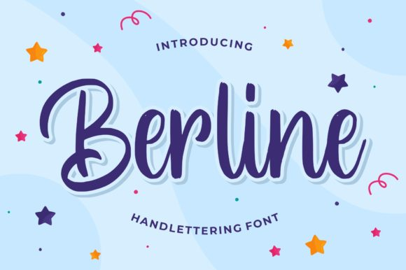 Print on Demand: Berline Script & Handwritten Font By goodjavastudio
