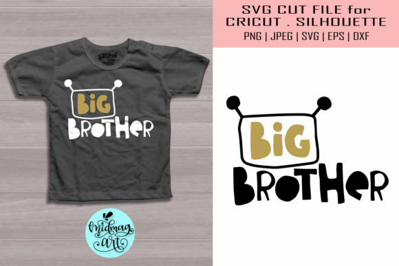 Download Free Big Brother Kids Shirt Graphic By Midmagart Creative Fabrica for Cricut Explore, Silhouette and other cutting machines.