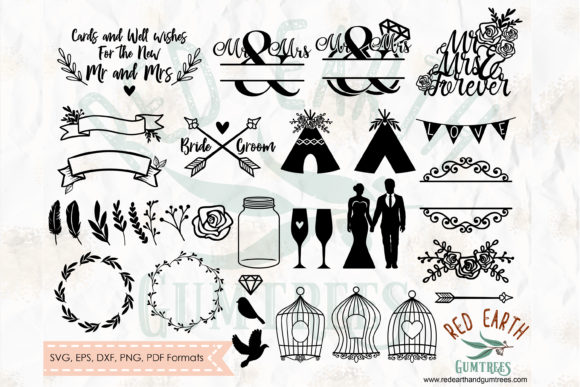 Big Wedding Bundle Graphic Crafts By redearth and gumtrees