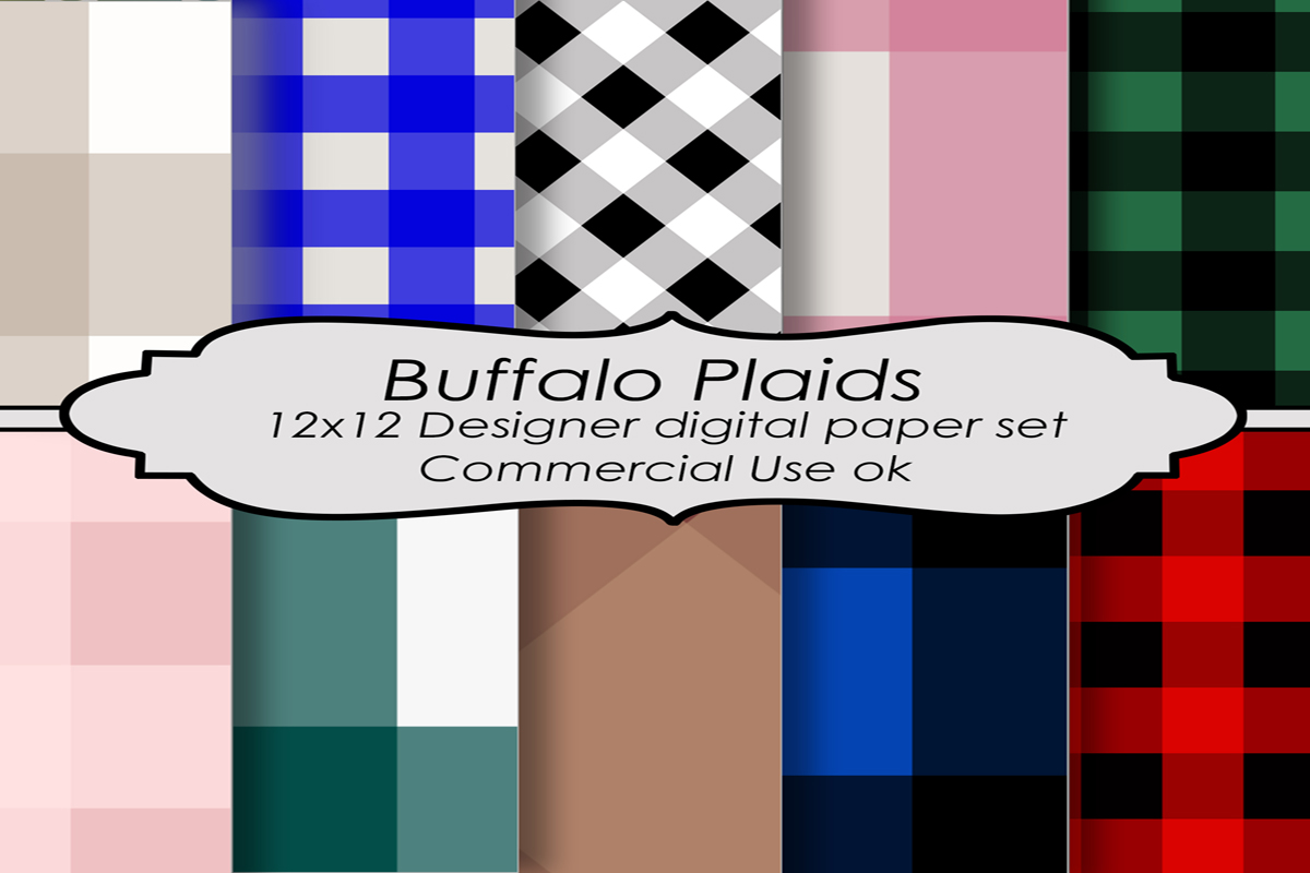 Download Free Buffalo Plaids Pattern Backgrounds Graphic By A Design In Time for Cricut Explore, Silhouette and other cutting machines.