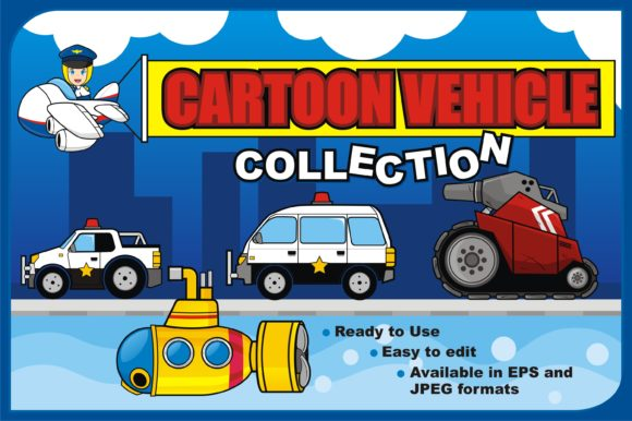 Print on Demand: Cartoon Vehicle Collection Graphic Illustrations By azkaryzki