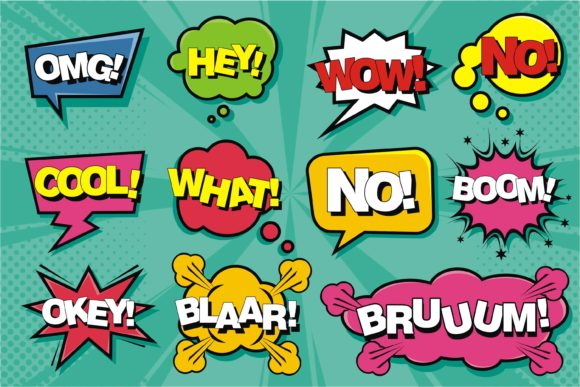 Print on Demand: Comic Speech Pop Art Graphic Illustrations By edywiyonopp