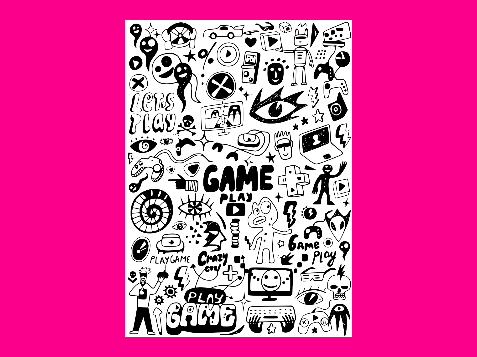 Download Free Computer Games Doodles Vector Grafico Por Anrasoft Creative Fabrica for Cricut Explore, Silhouette and other cutting machines.