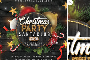 Cozy Christmas Night Party Flyer Graphic Print Templates By n2n44.studio