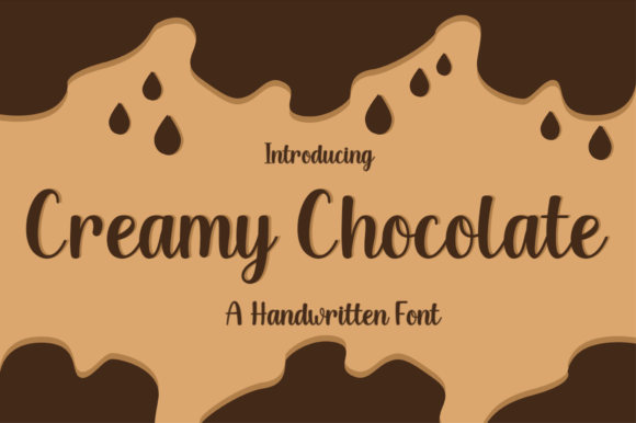 Print on Demand: Creamy Chocolate Manuscrita Fuente Por Manjalistudio