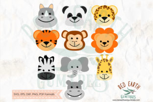 Cute Baby Animals Safari Theme in SVG Graphic Crafts By redearth and gumtrees
