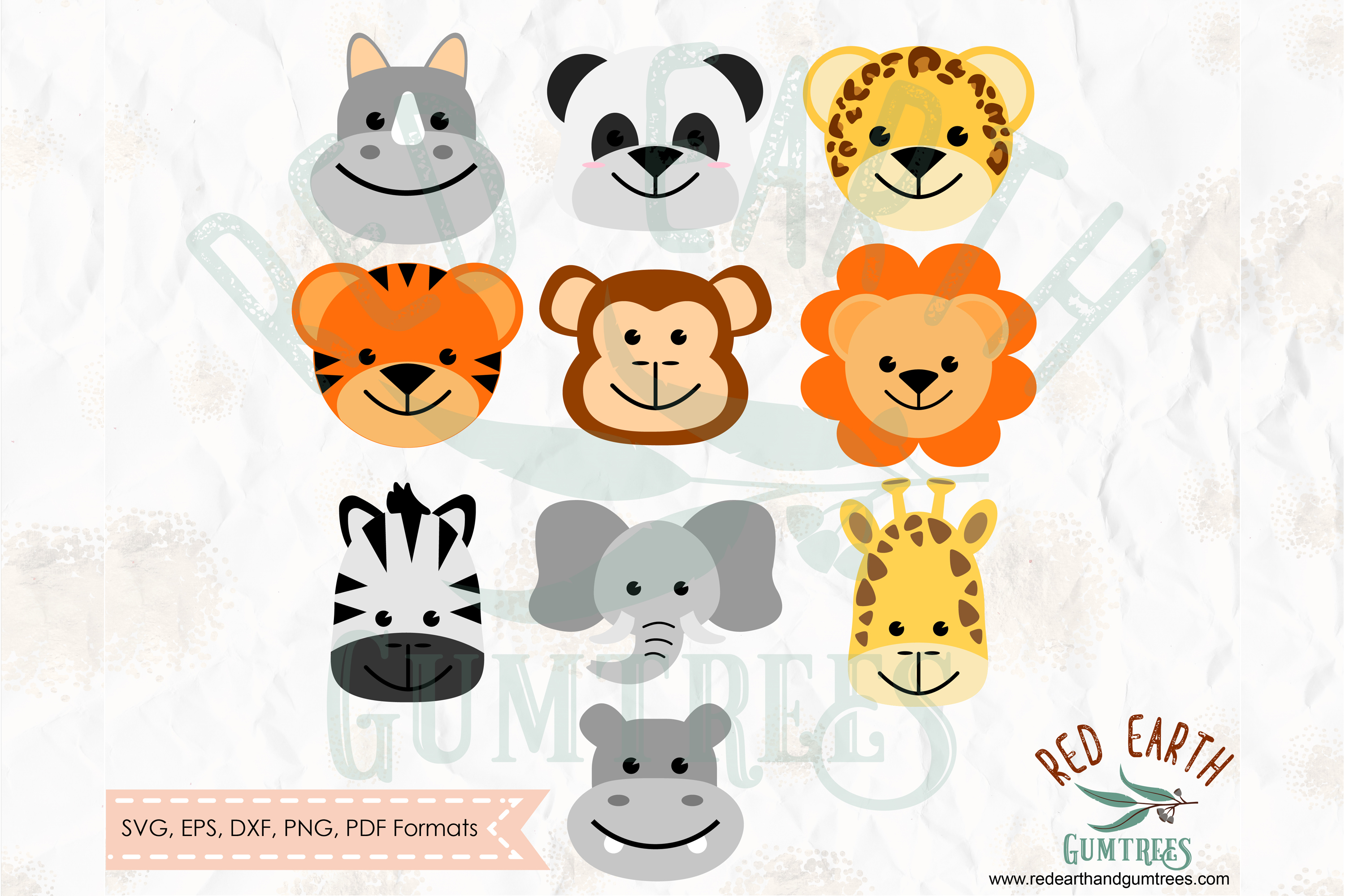 Cute Baby Animals Safari Theme In Svg Graphic By Redearth And