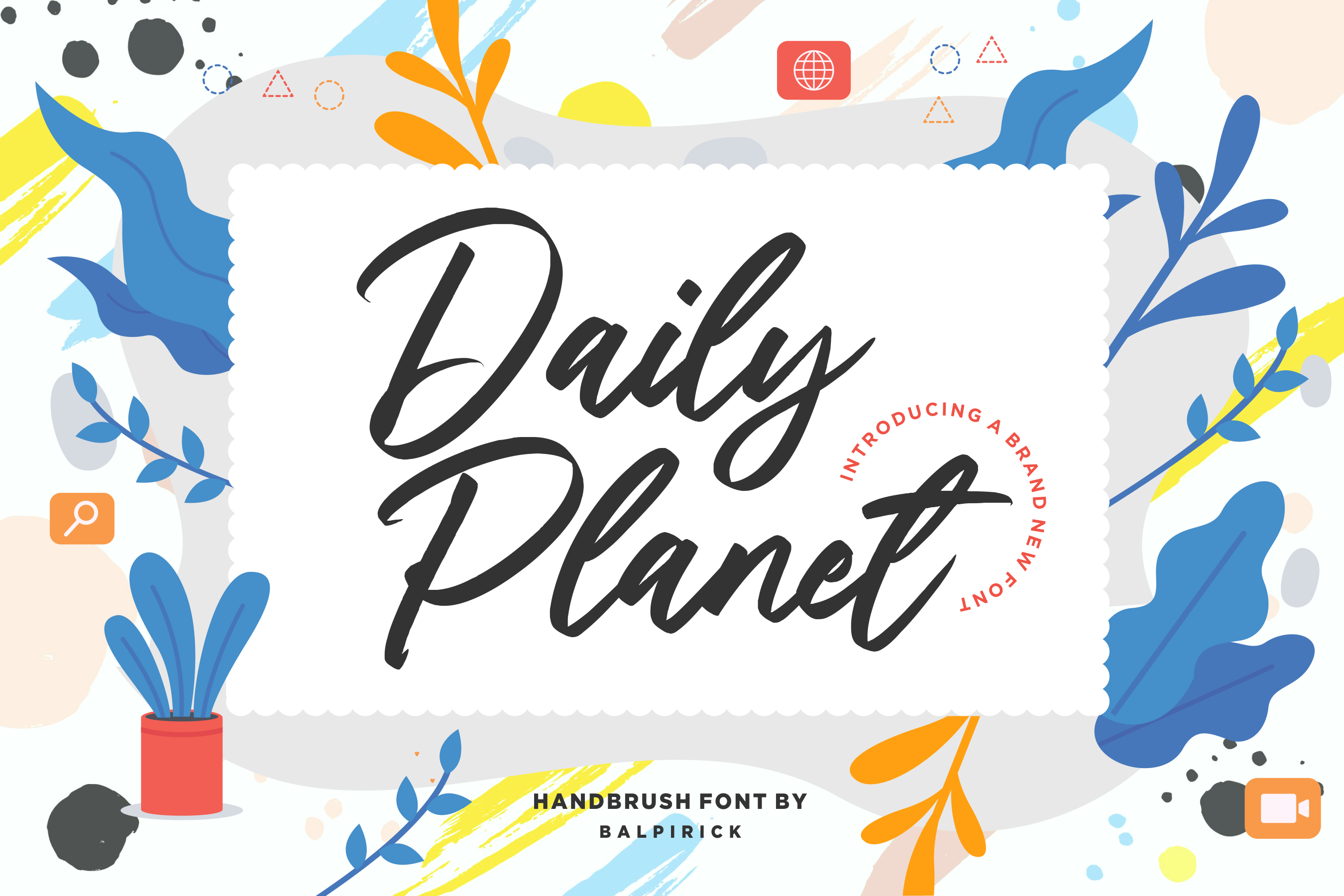 Download Free Daily Planet Font By Balpirick Creative Fabrica for Cricut Explore, Silhouette and other cutting machines.