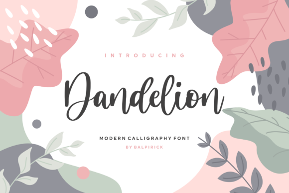 Print on Demand: Dandelion Script & Handwritten Font By Balpirick