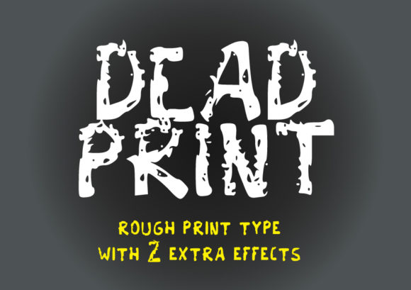Print on Demand: Dead Print Display Font By GraphicsBam Fonts