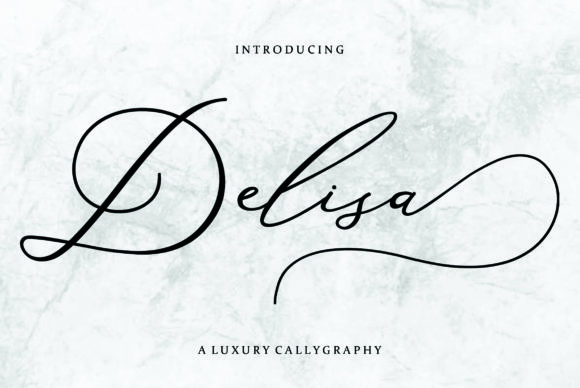 Print on Demand: Delisa Script & Handwritten Font By FontCloud