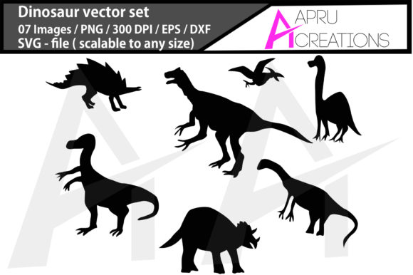 Download Free Dinosaur Dinosaur Silhouette Graphic By Aparnastjp Creative for Cricut Explore, Silhouette and other cutting machines.