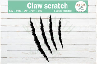 Dinosaur Claw Scratch Graphic Crafts By redearth and gumtrees