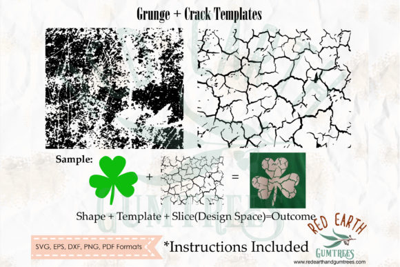 Distressed, Grunge and Cracked Template Graphic Crafts By redearth and gumtrees