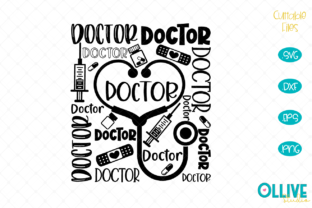 Download Free Doctor Art Word Graphic By Ollivestudio Creative Fabrica for Cricut Explore, Silhouette and other cutting machines.