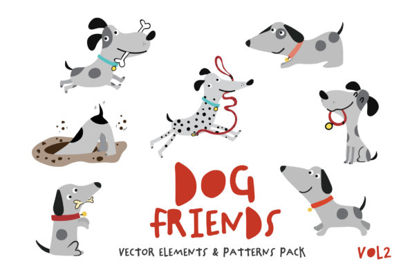 Print on Demand: Dog Friends Pack Vol.2 Graphic Illustrations By SmartDesigns
