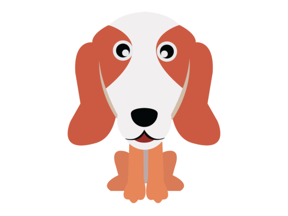 Download Free Dog Flat Design Vector Icon Outline Graphic By Isalsemarang for Cricut Explore, Silhouette and other cutting machines.