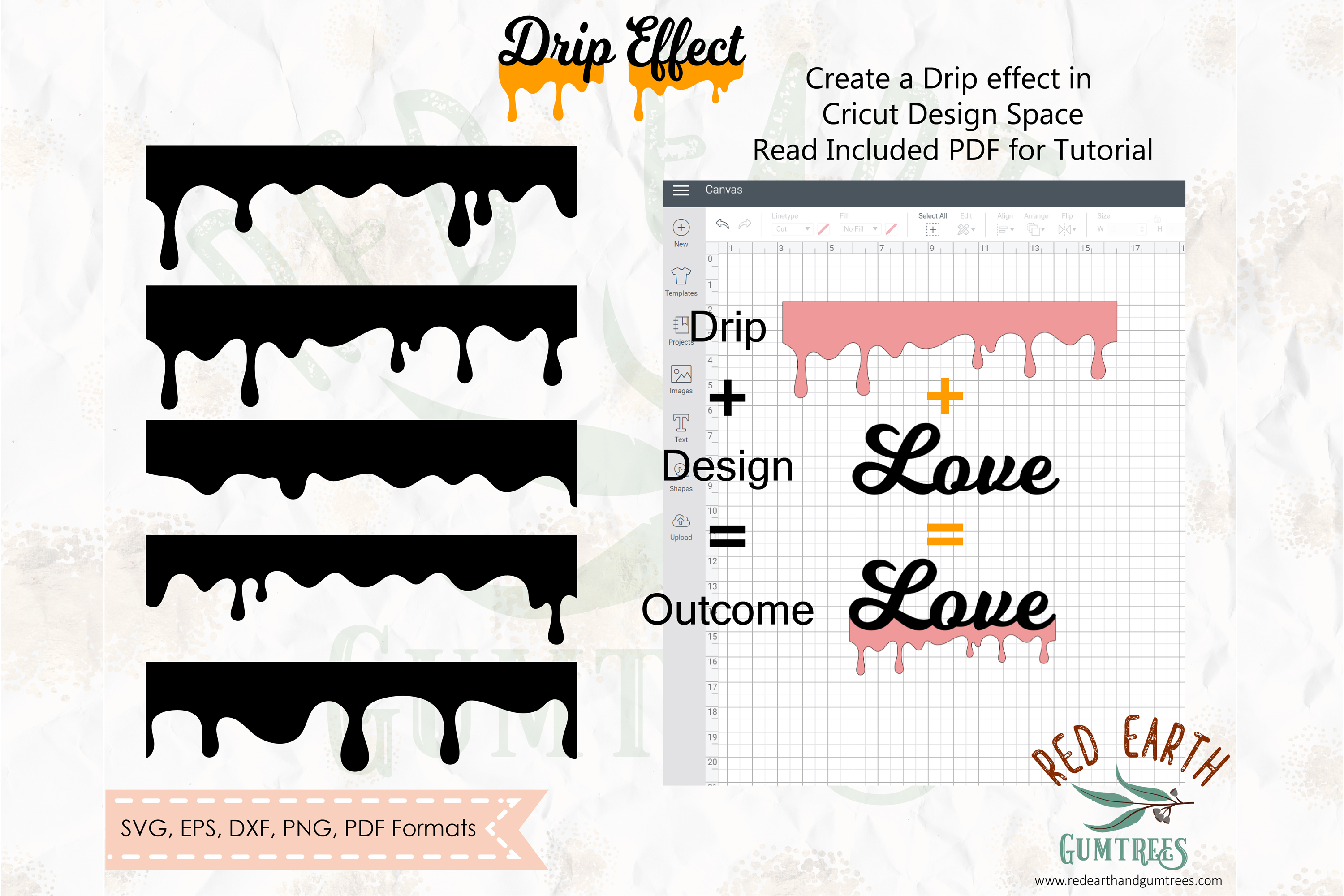 Download Free Honey Drip Bundle Graphic By Redearth And Gumtrees Creative for Cricut Explore, Silhouette and other cutting machines.
