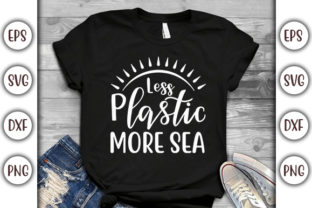 Print on Demand: Earth Day Design, Less Plastic, More Sea Graphic Print Templates By GraphicsBooth