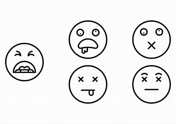 Download Free Emoticons Graphic By Gantengagif7 Creative Fabrica for Cricut Explore, Silhouette and other cutting machines.