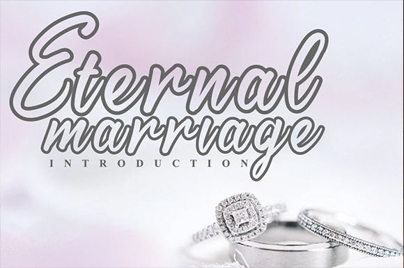 Download Free Eternal Marriage Font By Andikastudio Creative Fabrica for Cricut Explore, Silhouette and other cutting machines.