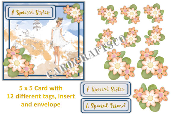 Download Free Female Card Making Kit Printable Graphic By Digitalcraftsco for Cricut Explore, Silhouette and other cutting machines.