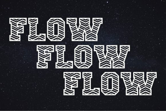 Print on Demand: Flow Display Font By KtwoP