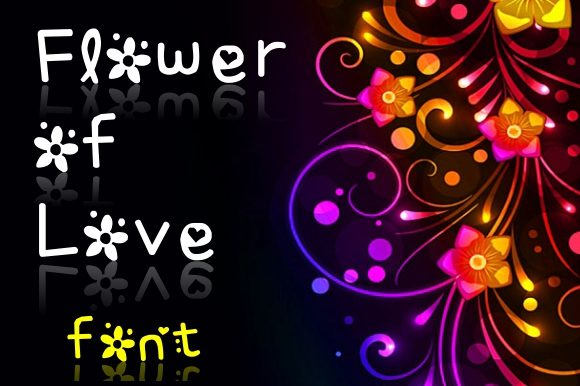 Print on Demand: Flower of Love Decorative Font By CutieFont
