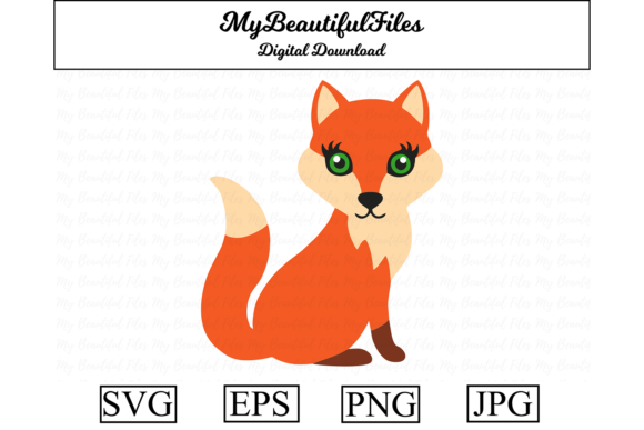 Download Free Fox Clipart Grafico Por Mybeautifulfiles Creative Fabrica for Cricut Explore, Silhouette and other cutting machines.