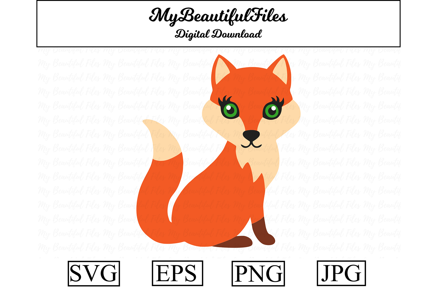 Download Free Fox Clipart Graphic By Mybeautifulfiles Creative Fabrica for Cricut Explore, Silhouette and other cutting machines.