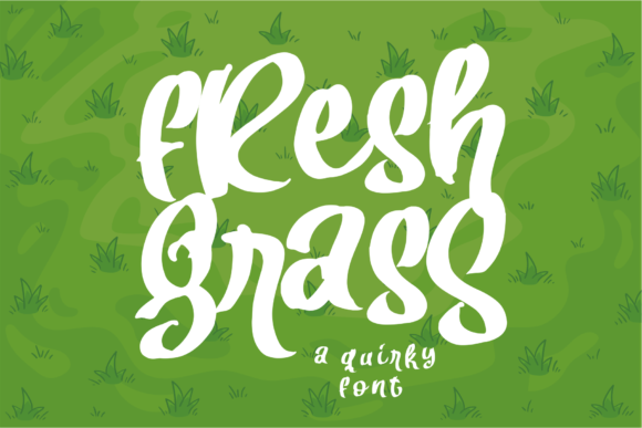 Print on Demand: Fresh Grass Display Font By Azetype