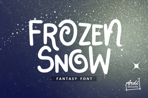 Print on Demand: Frozen Snow Display Font By ArdiDesigns