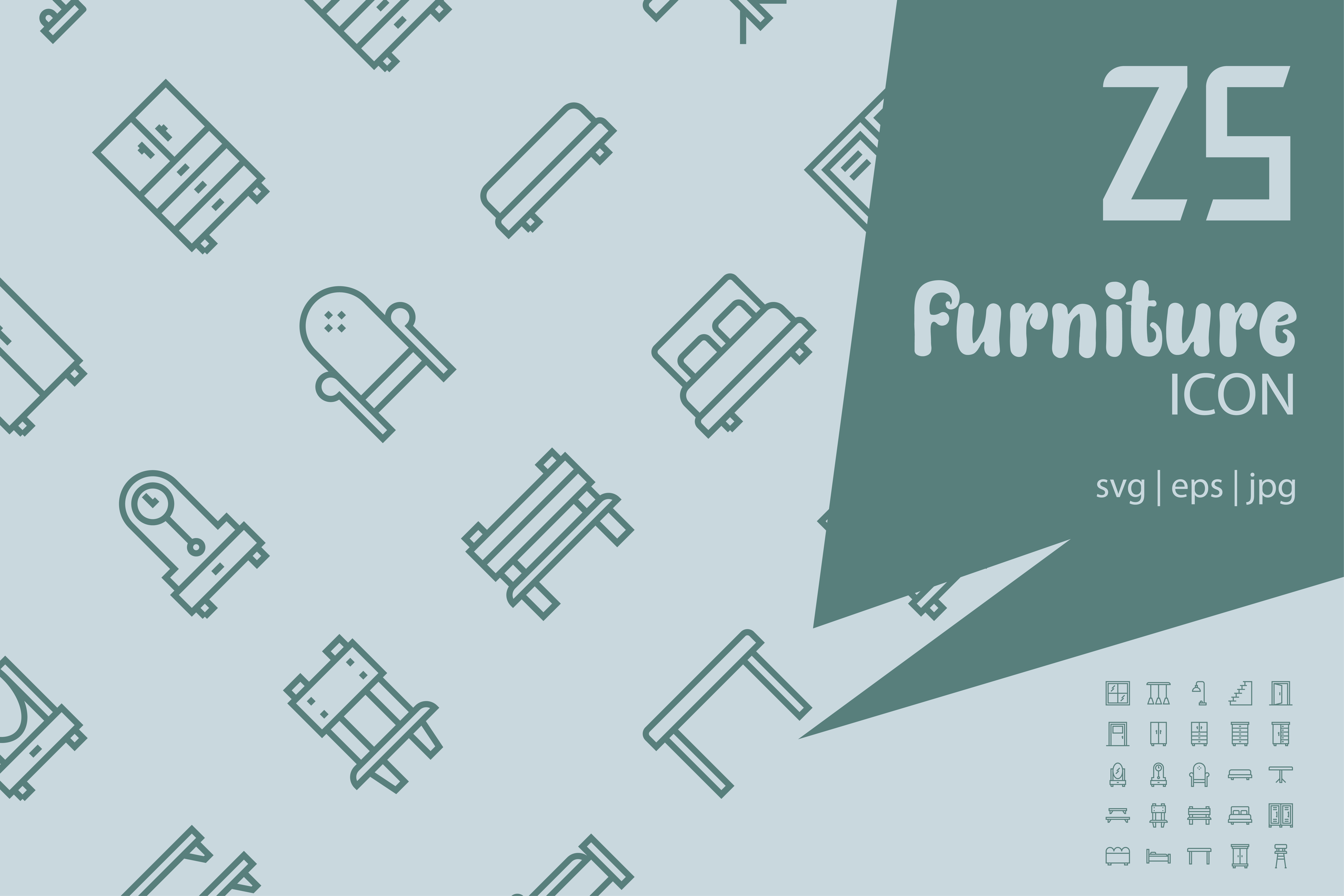 Download Free Furniture Graphic By Astuti Julia93 Gmail Com Creative Fabrica for Cricut Explore, Silhouette and other cutting machines.