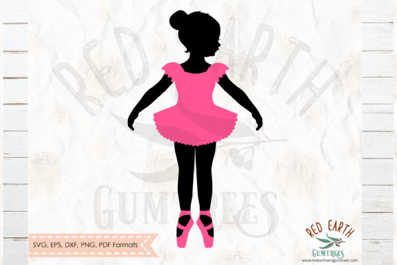 Girl Ballerina in Pink  Graphic Crafts By redearth and gumtrees
