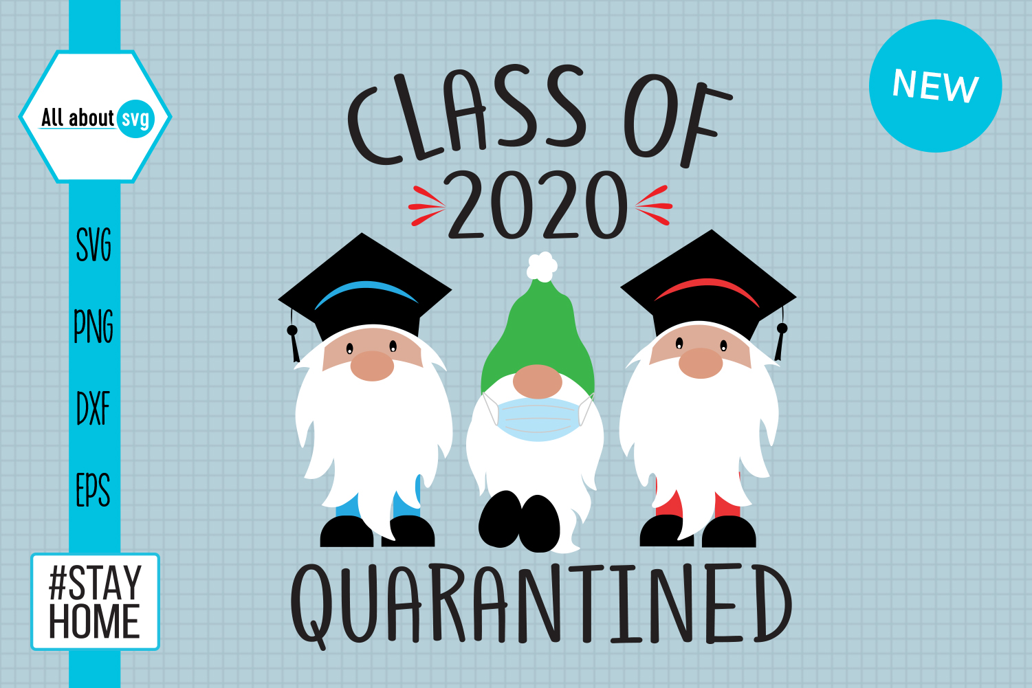 Download Free Gnomies Class Of The 2020 Quarantine Graphic By All About Svg for Cricut Explore, Silhouette and other cutting machines.