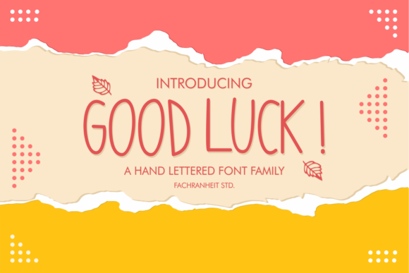 Print on Demand: Good Luck! Script & Handwritten Font By fachranheit
