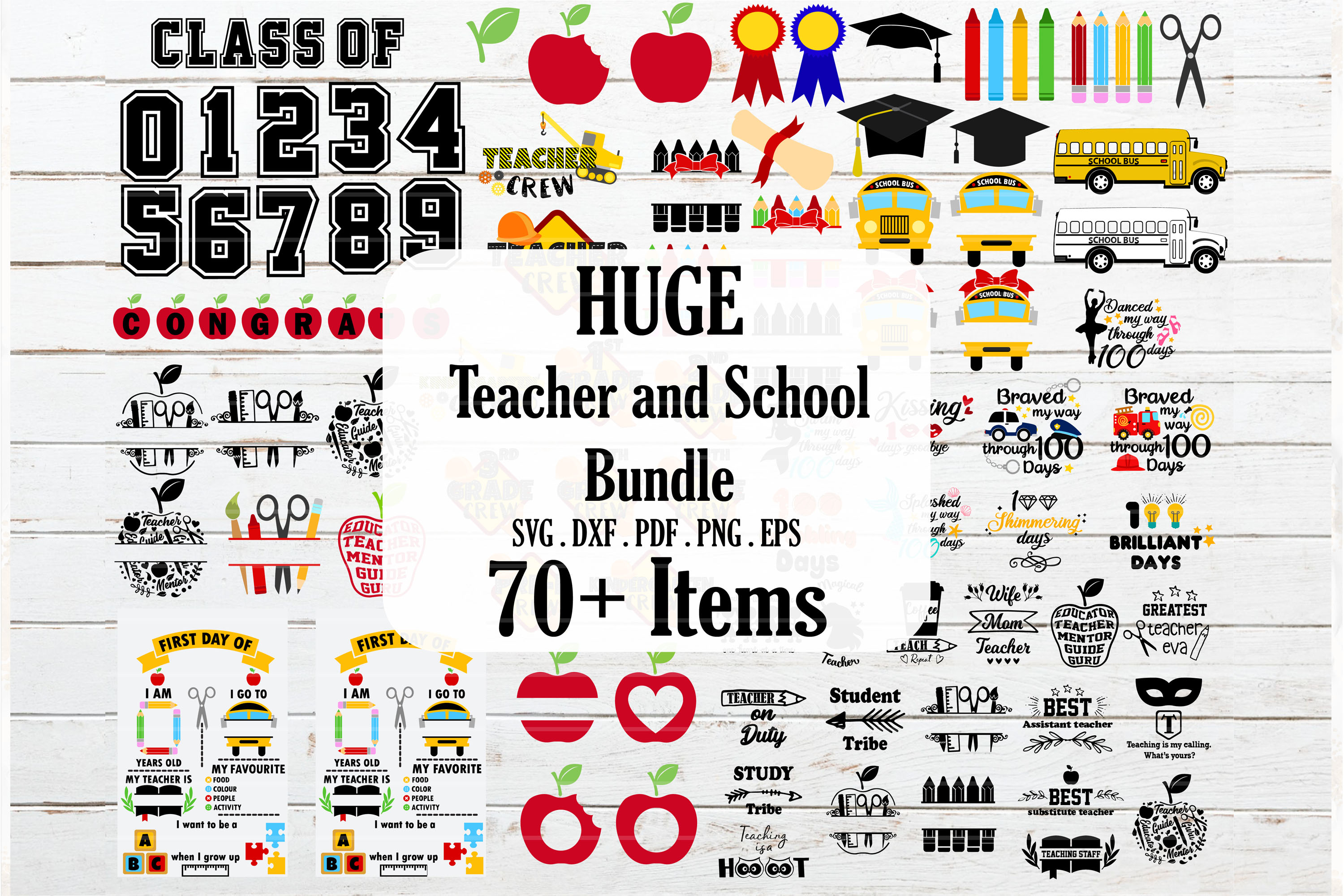 Download Free Teacher Back To School Bundle Graphic By Redearth And Gumtrees for Cricut Explore, Silhouette and other cutting machines.